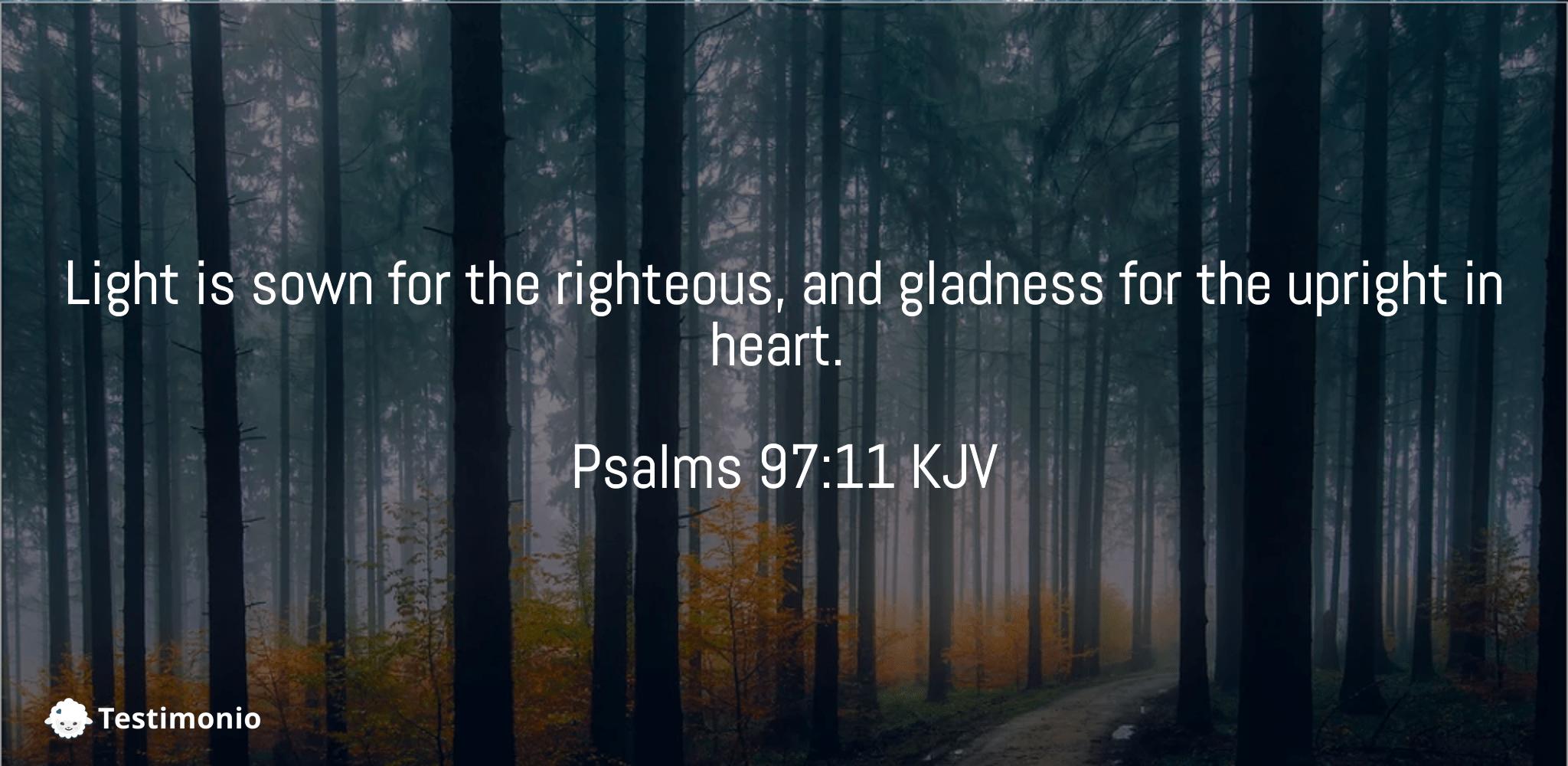 Psalms 97:11
