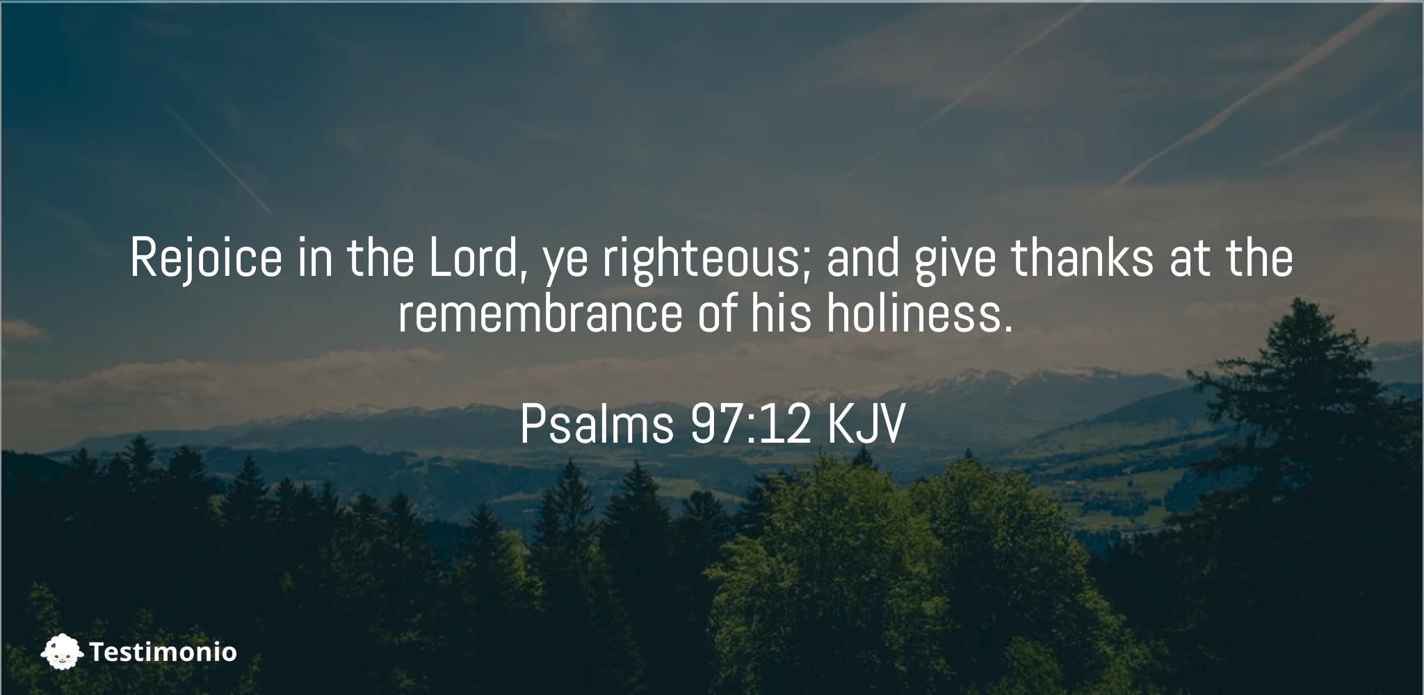 Psalms 97:12