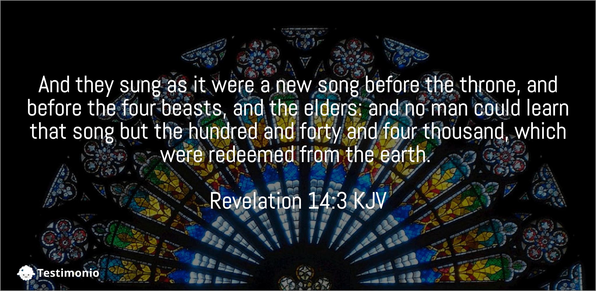 Revelation 14:3