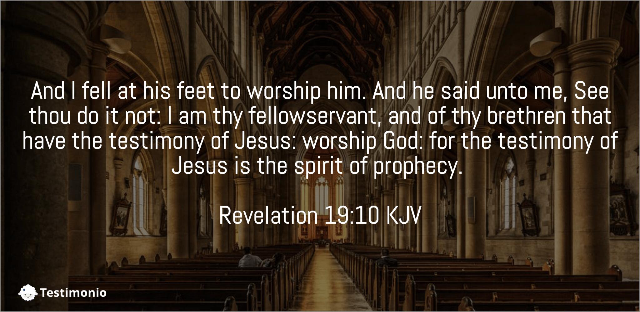 Revelation 19:10