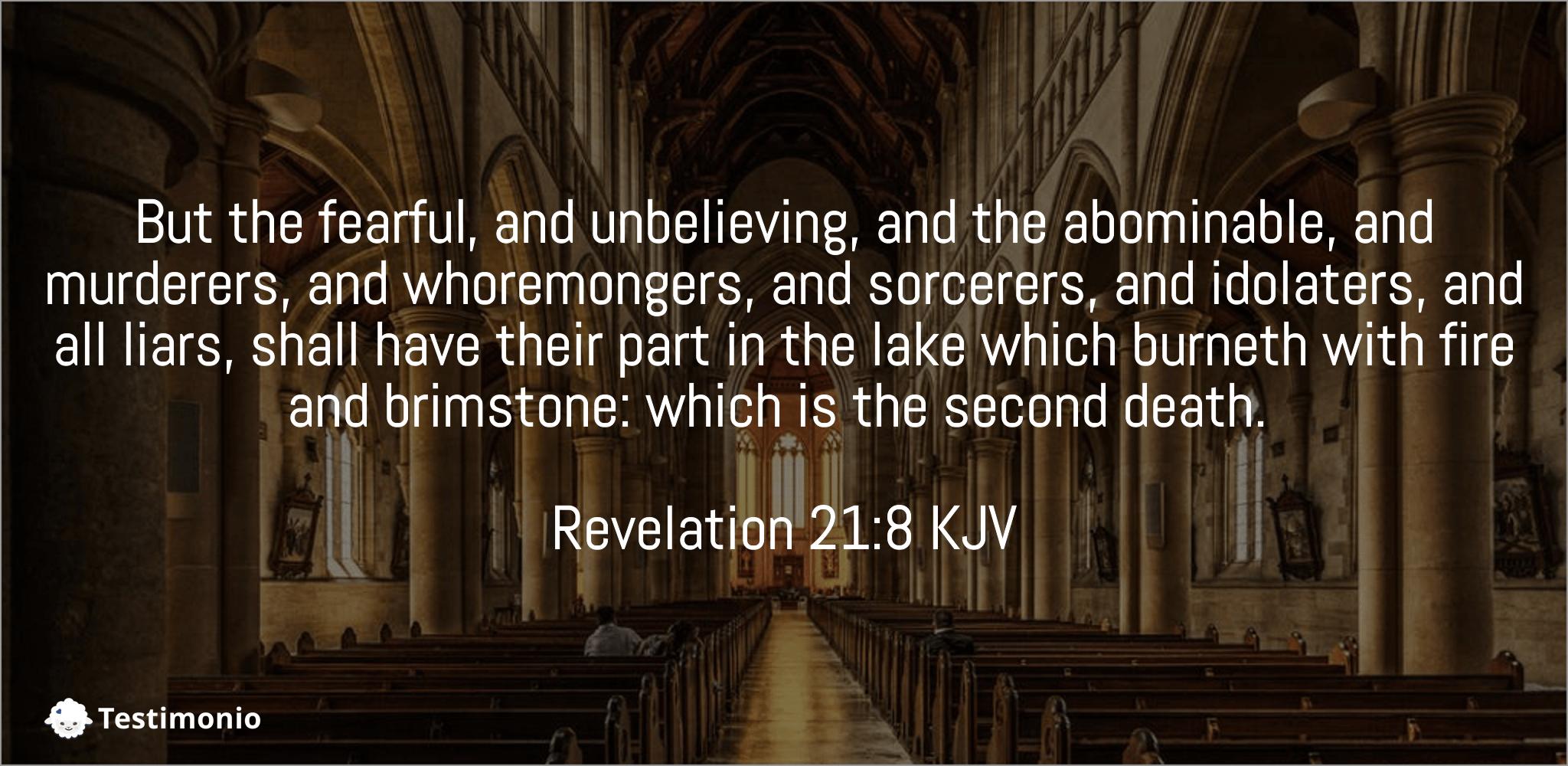 Revelation 21:8