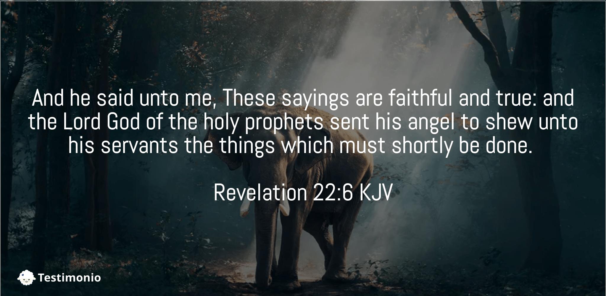 Revelation 22:6
