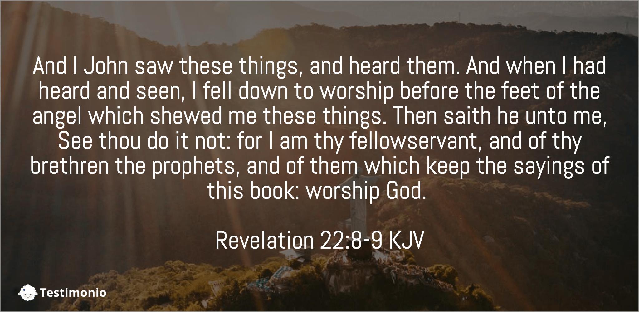 Revelation 22:8-9