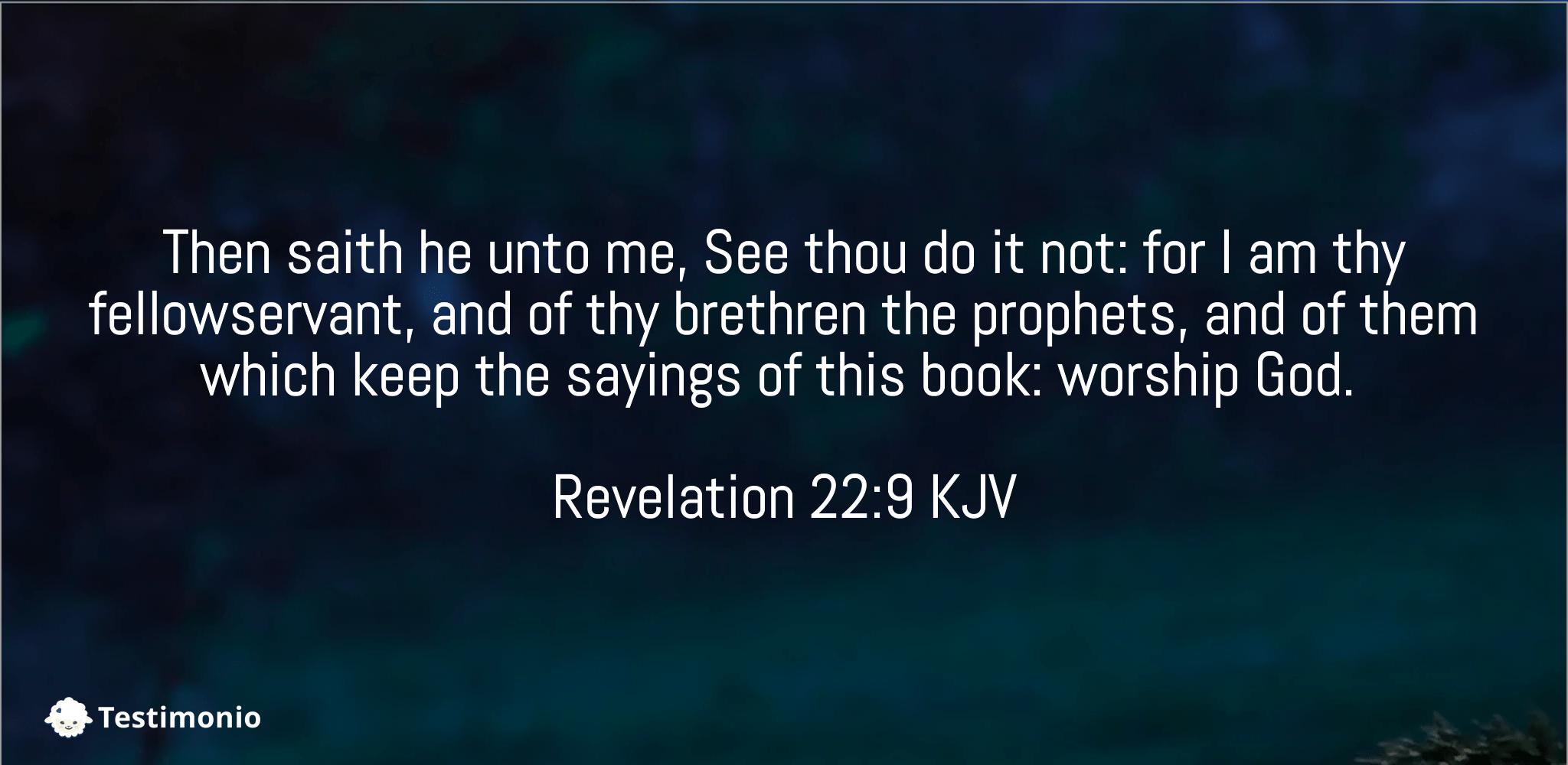 Revelation 22:9
