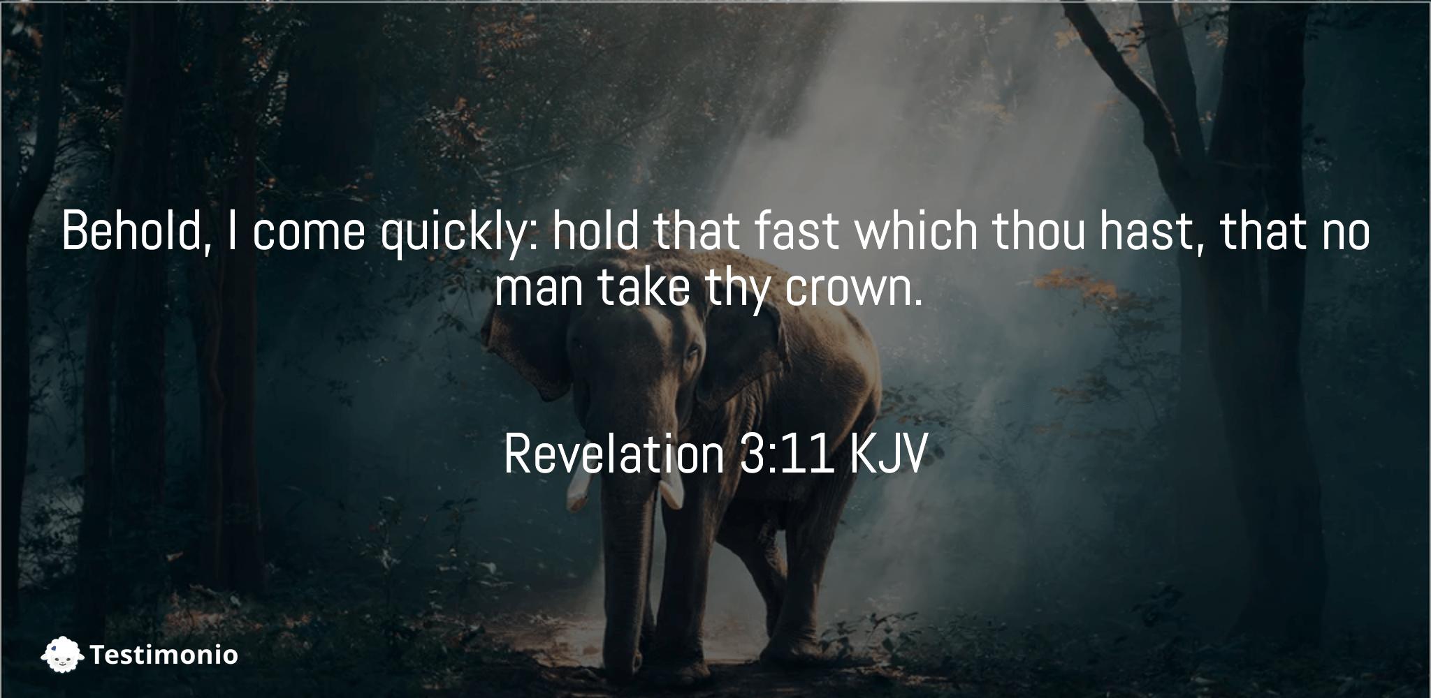 Revelation 3:11