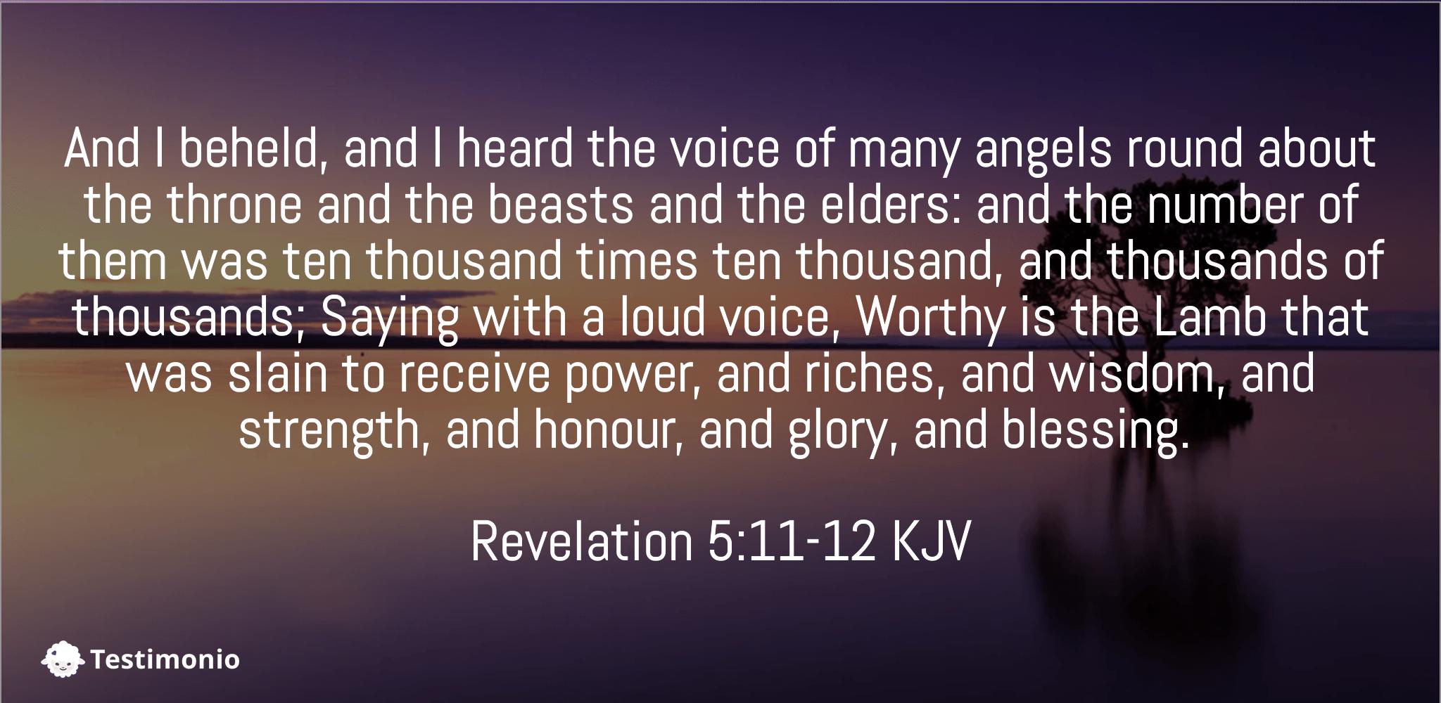 Revelation 5:11-12
