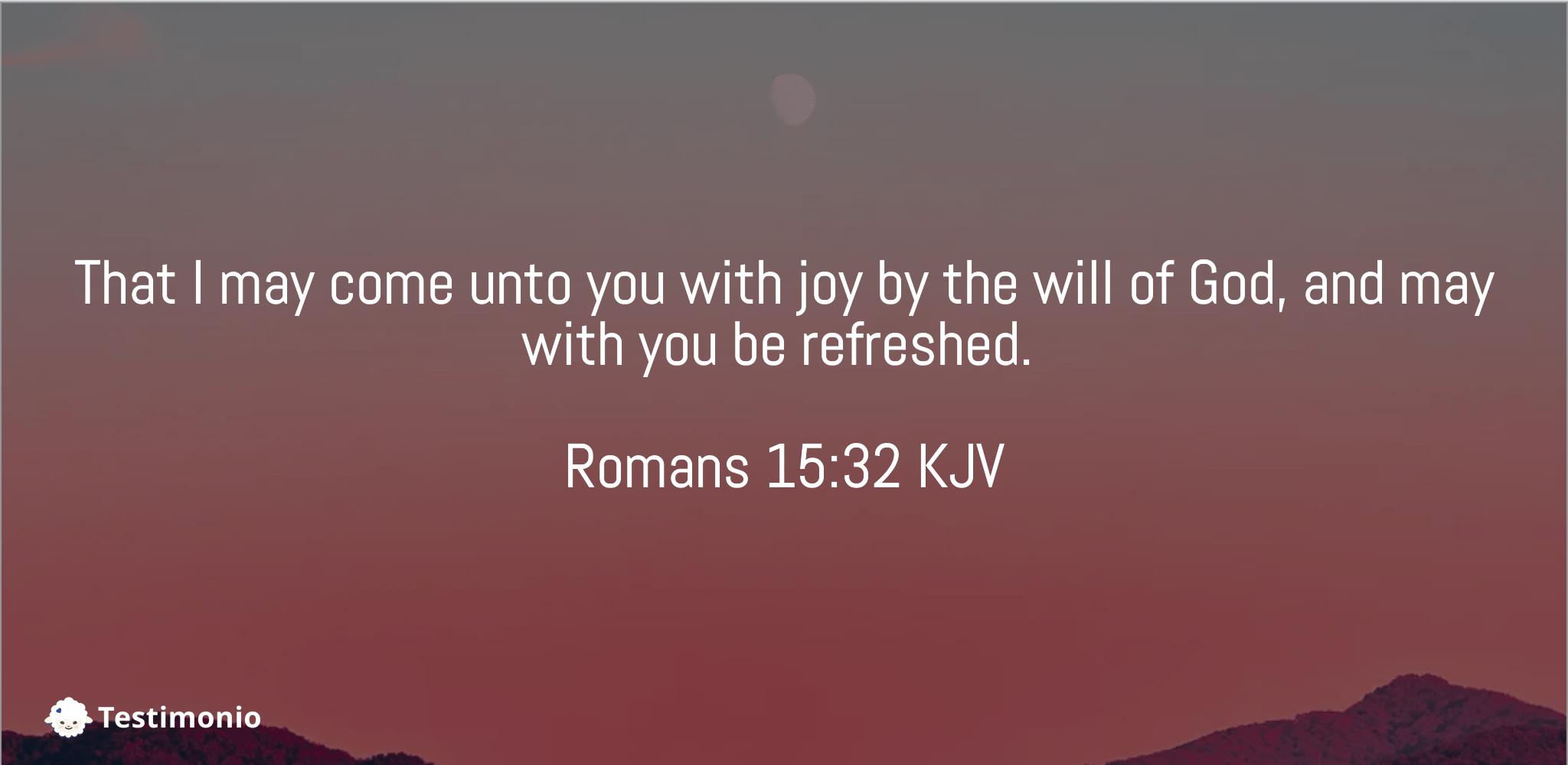Romans 15:32