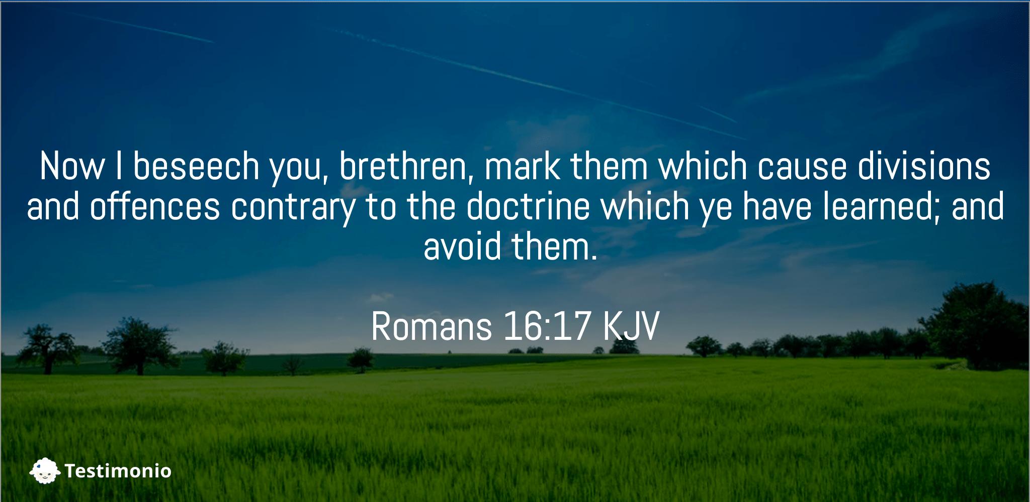 Romans 16:17