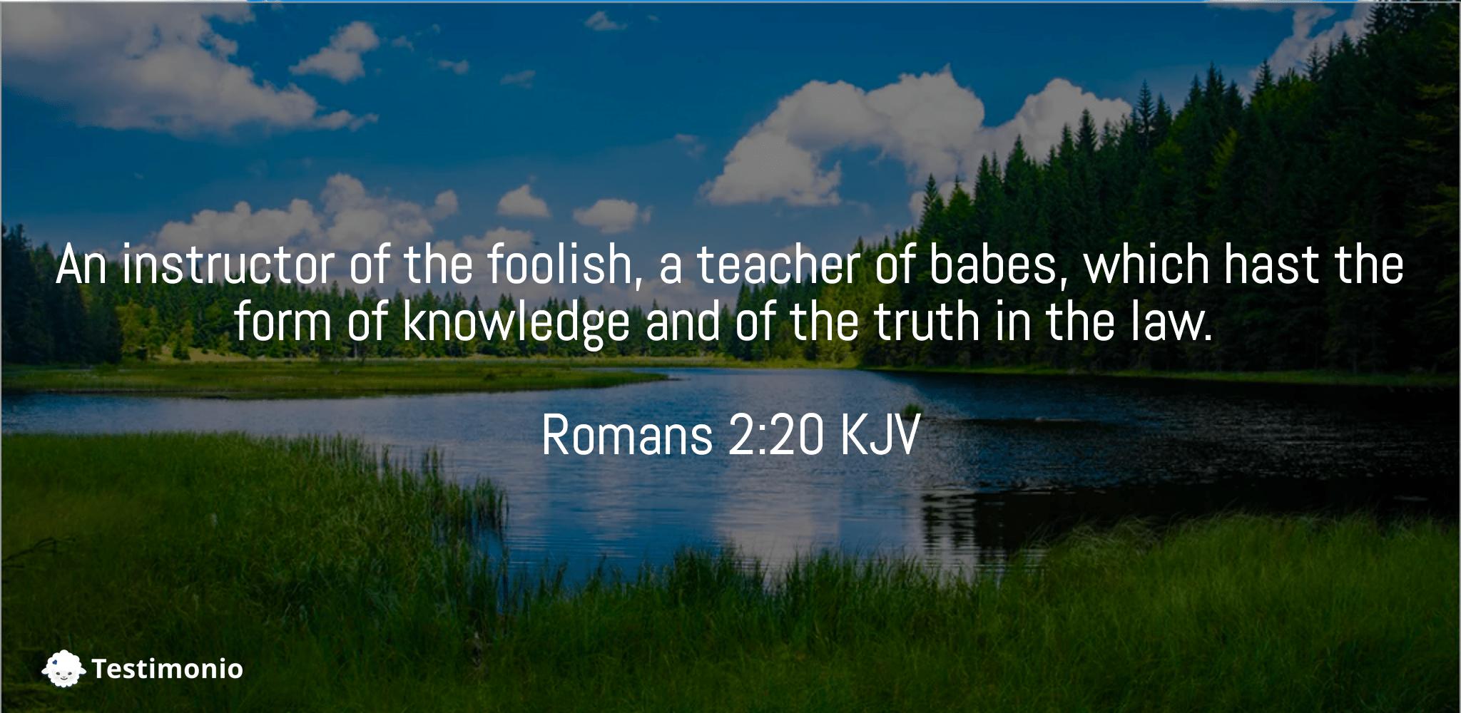 Romans 2:20