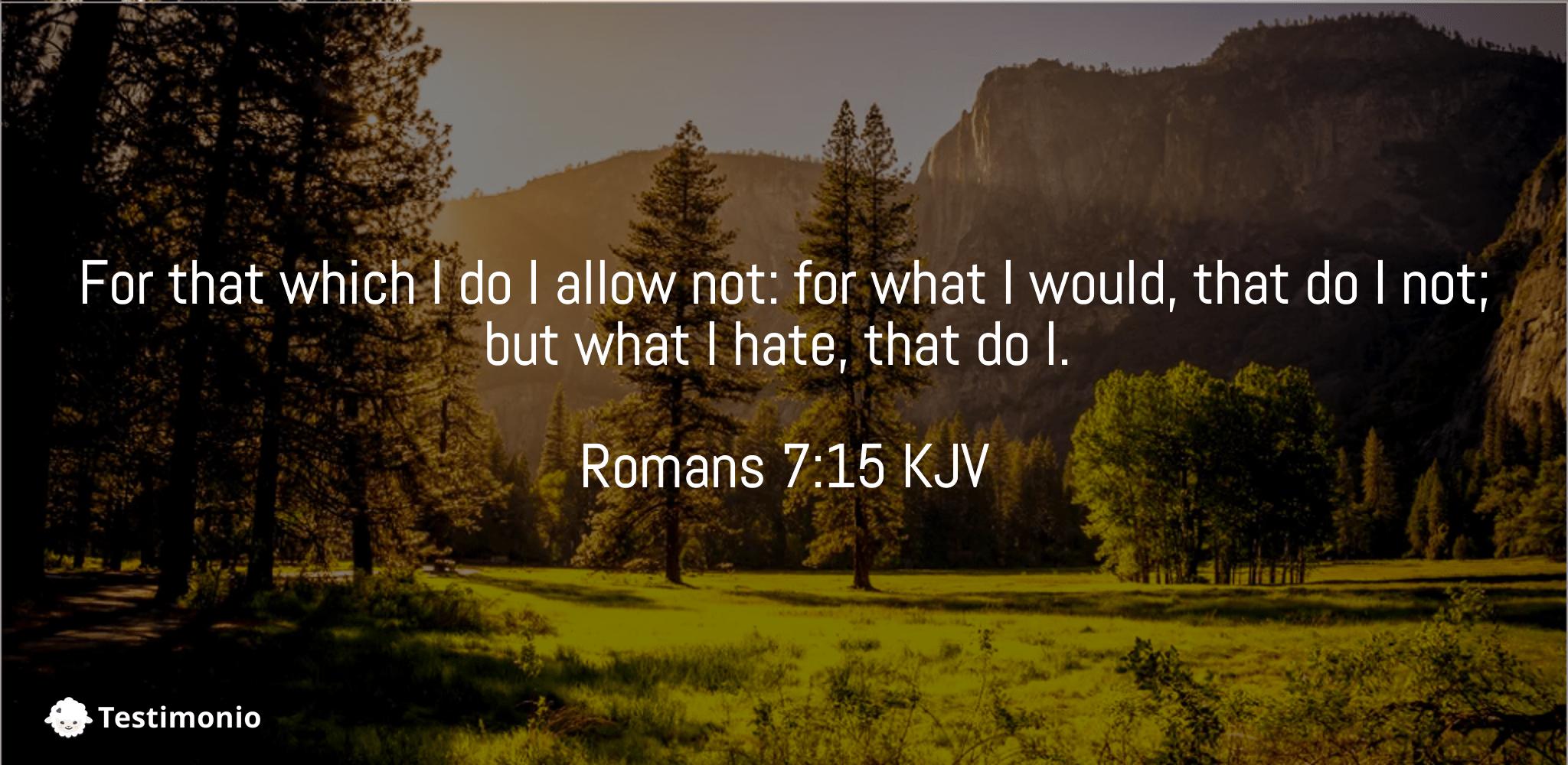 Romans 7:15