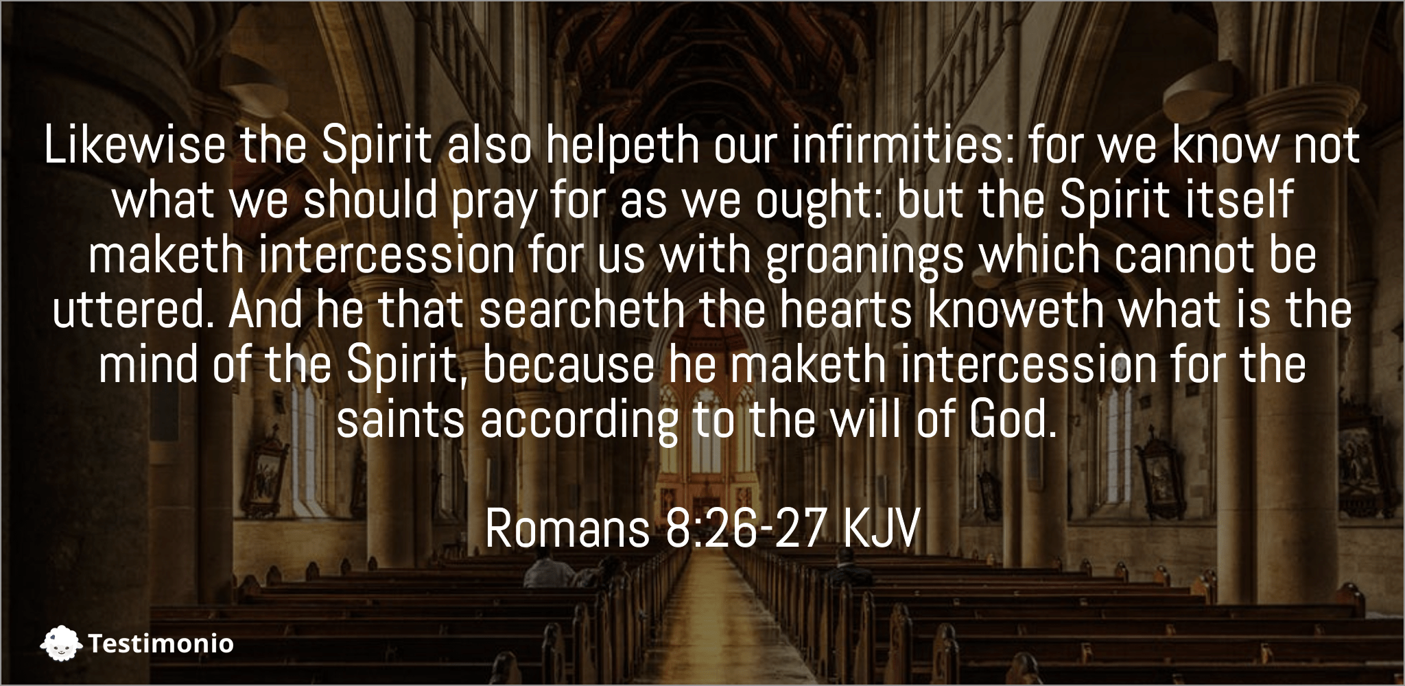 Romans 8:26-27