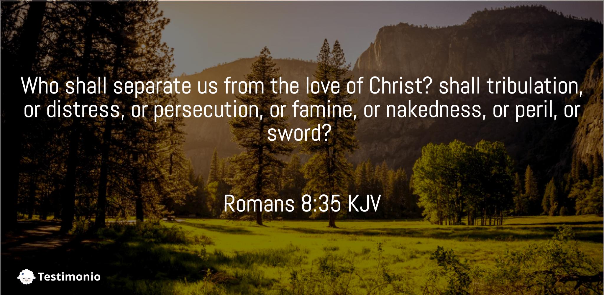 Romans 8:35