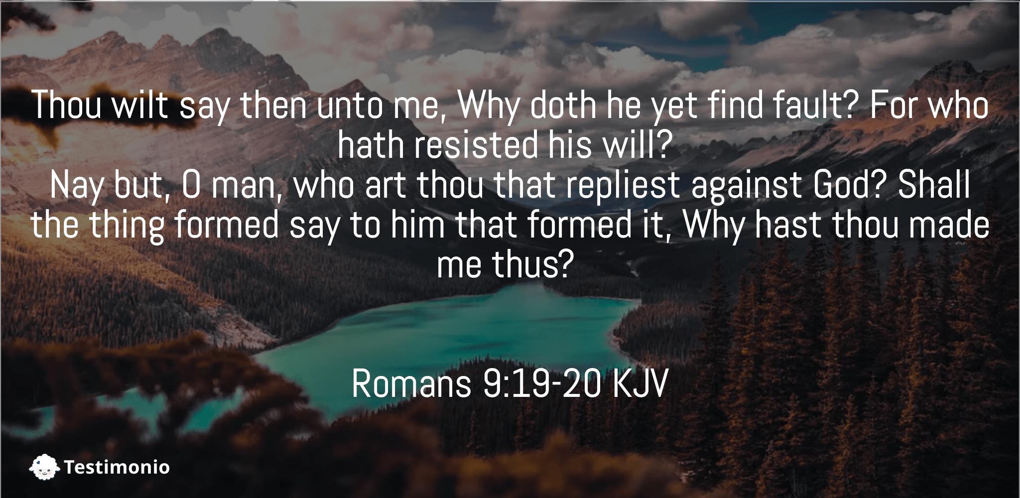 Romans 9:19-20