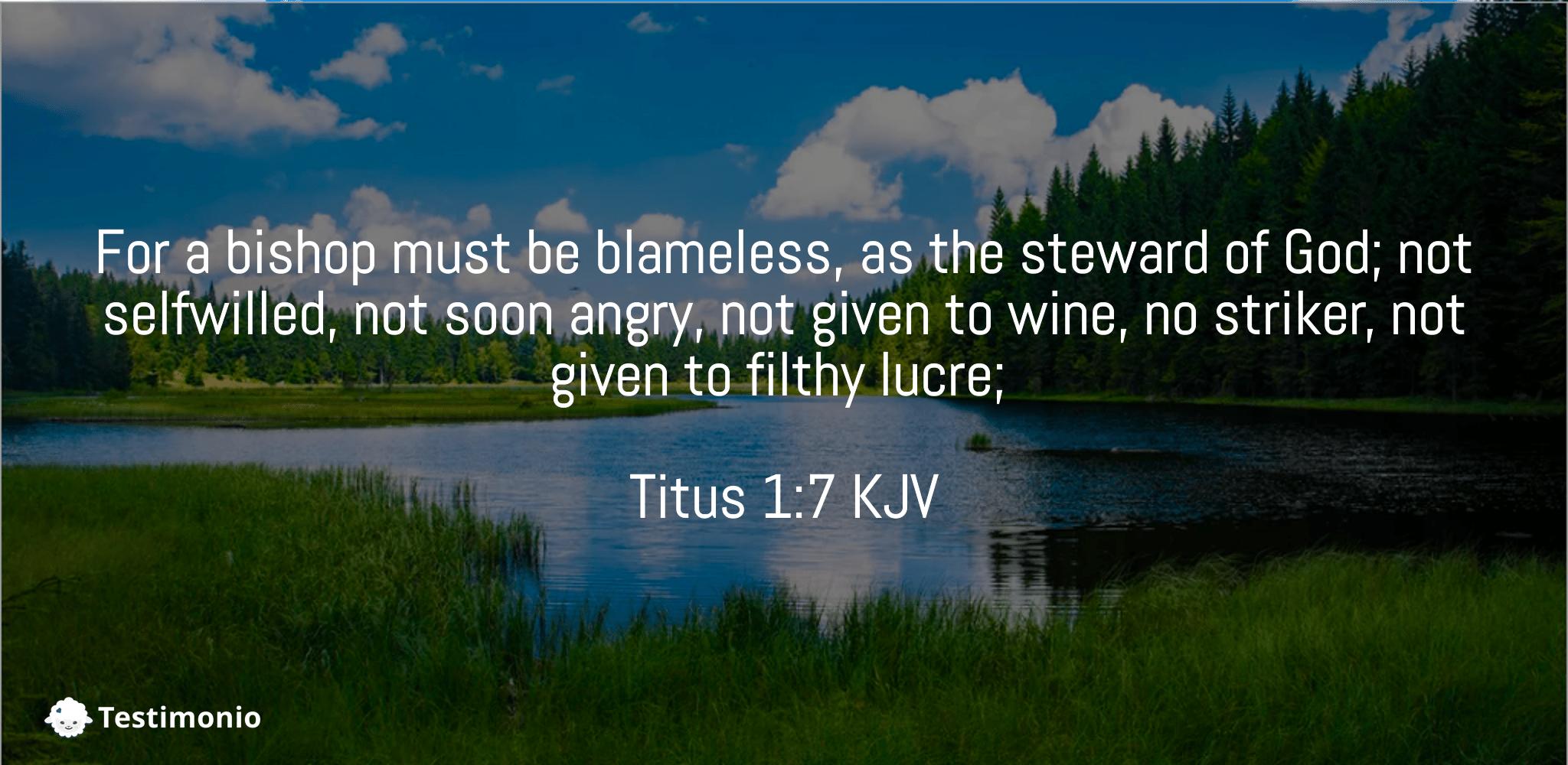 Titus 1:7