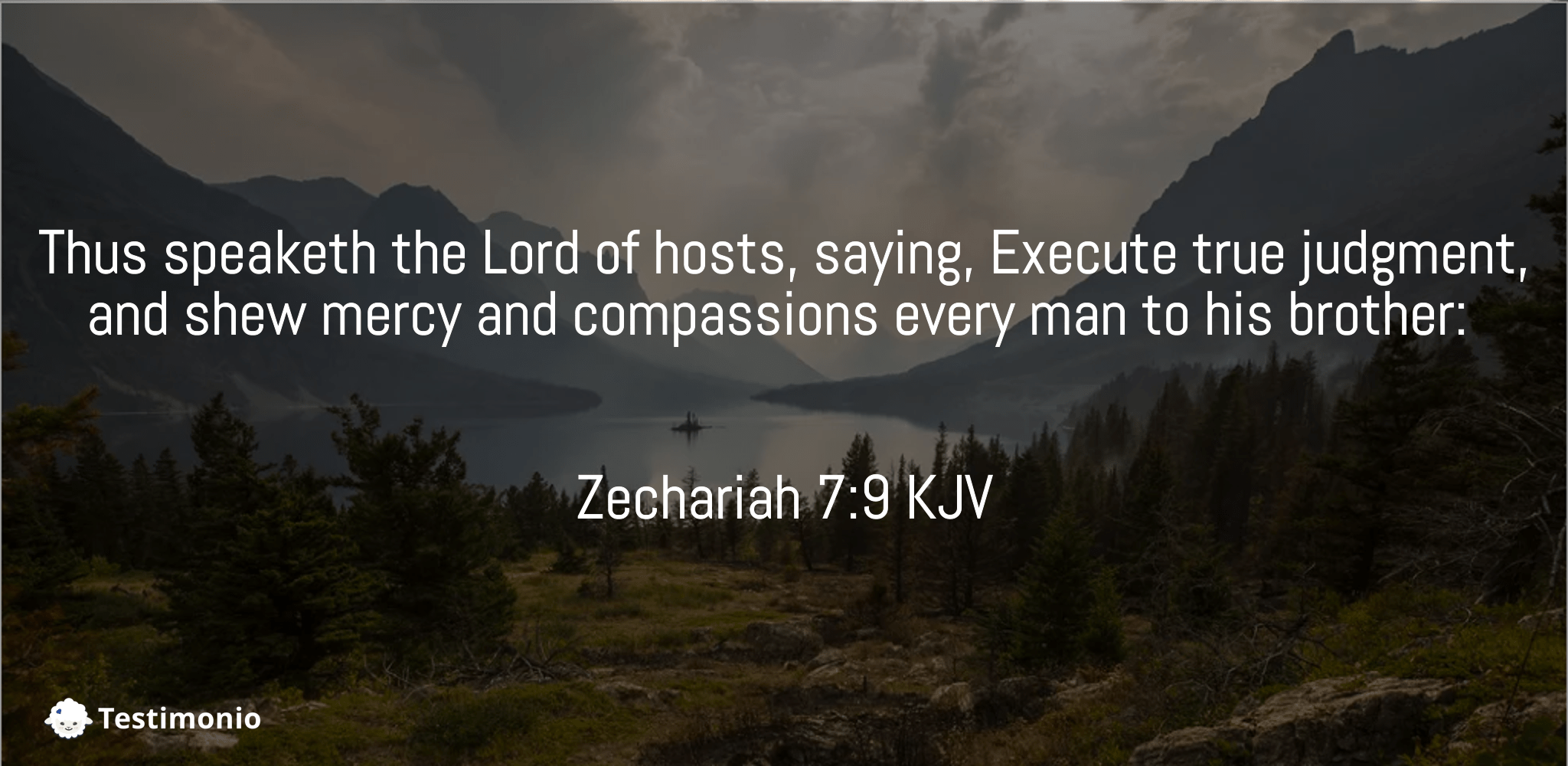 Zechariah 7:9